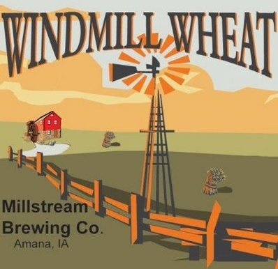Millstream Windmill Wheat beer Label Full Size