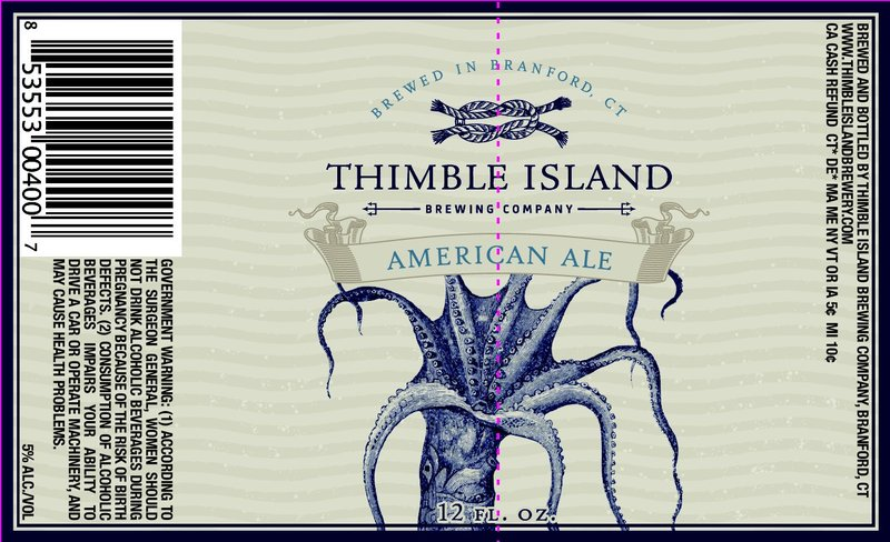Thimble Island American Ale beer Label Full Size