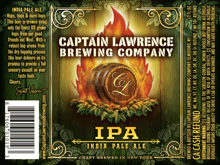 Captain Lawrence IPA beer Label Full Size