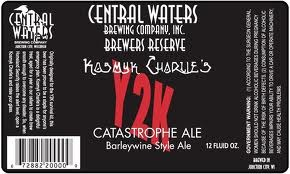 Central Waters Kosmyk Charlie's Y2K Catastrophe Ale beer Label Full Size