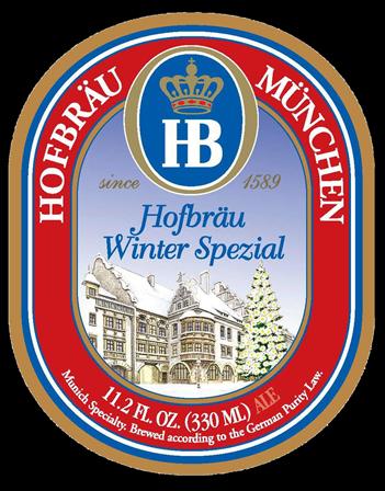 Hofbrau Winter Spezial beer Label Full Size