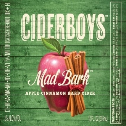 Ciderboys Mad Bark beer Label Full Size