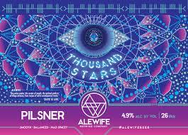 Alewife Thousand Stars beer Label Full Size
