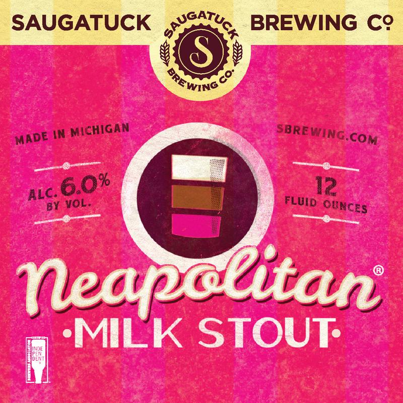 Saugatuck Neapolitan Milk Stout Nitro beer Label Full Size