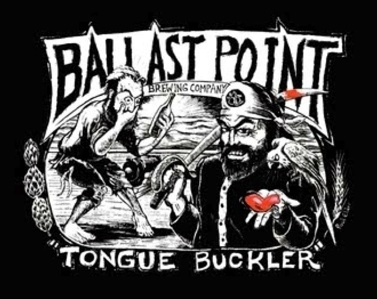 Ballast Point Tongue Buckler with Brewers Gold & Willamette beer Label Full Size