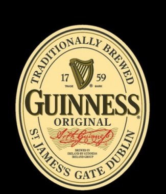 Guinness Irish Stout beer Label Full Size