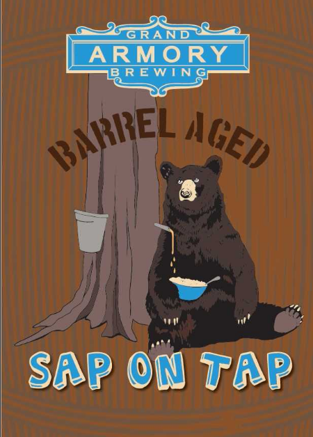 Grand Armory BBA Sap on Tap beer Label Full Size
