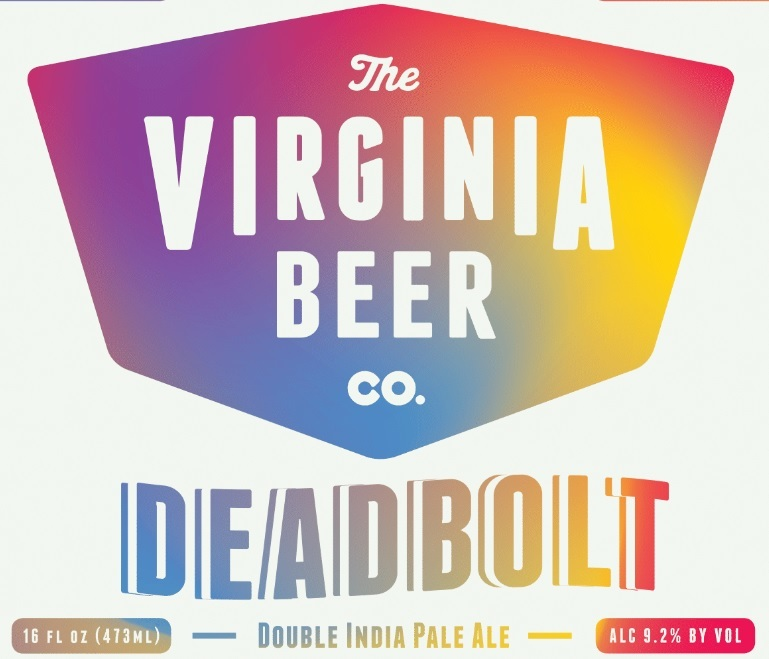 Virginia Beer Co. DEADBOLT beer Label Full Size
