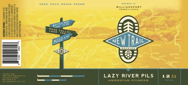 New Trail Lazy River beer Label Full Size