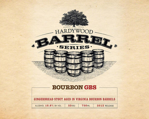 Hardywood Ages Gingerbread Stout in Bourbon Barrels beer Label Full Size