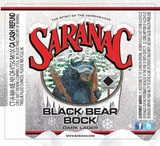 Saranac Black Bear Bock beer