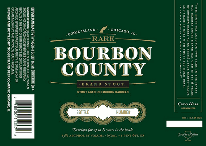 Goose Island Rare Bourbon County Stout 2010 beer Label Full Size