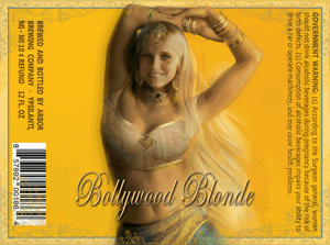 Arbor Bollywood Blonde beer Label Full Size
