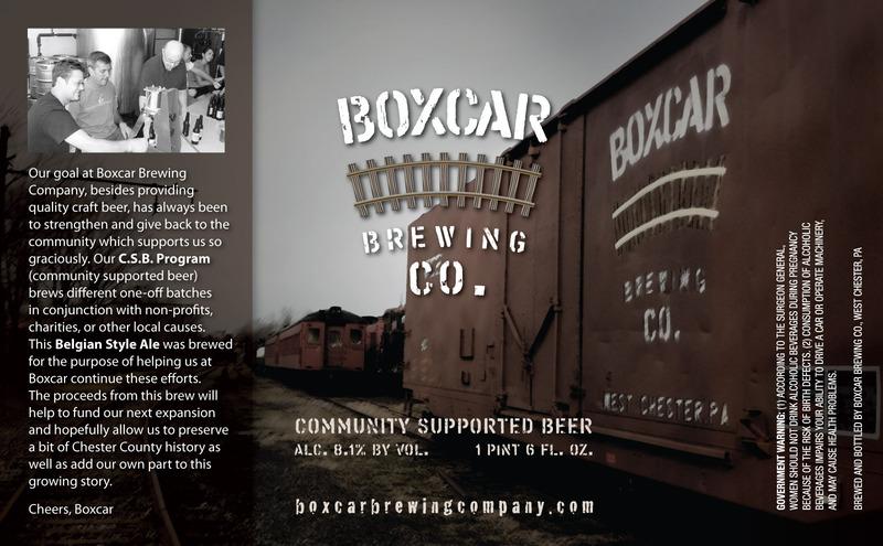 Boxcar Belgian Tripel beer Label Full Size