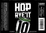 10 Barrel Hop Rye'It beer