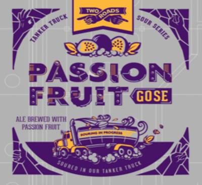 Two Roads Passionfruit Gose Beer