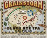 Boulevard Grainstorm Black Rye IPA beer