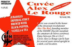 BFM Cuvee Alex le Rouge beer Label Full Size