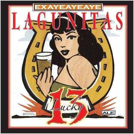 Lagunitas Lucky 13 beer Label Full Size