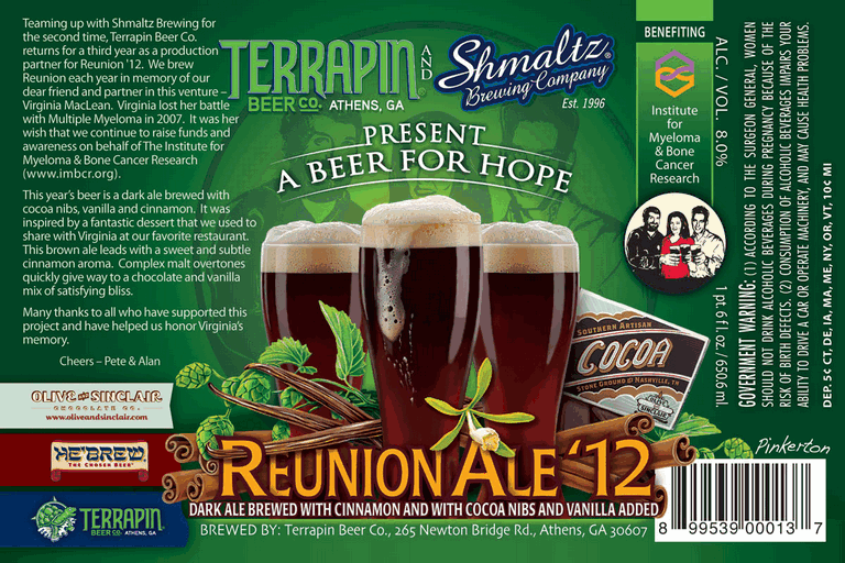 Terrapin Reunion '12 beer Label Full Size