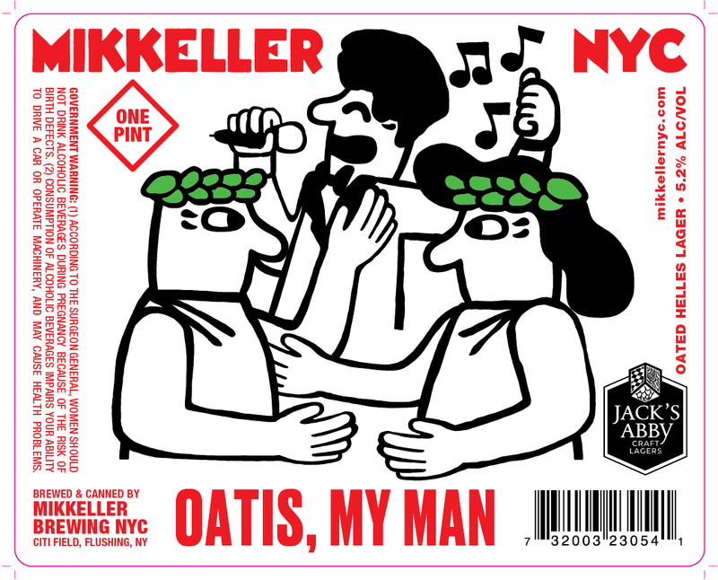 Mikkeller NYC/Jack's Abby Oatis, My Man beer Label Full Size