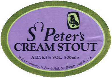 St. Peter's Cream Stout beer Label Full Size