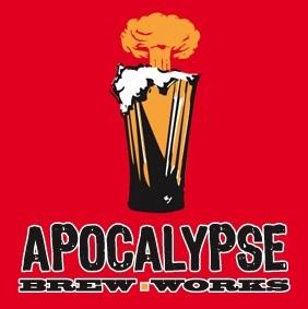 Apocalypse EndOfTheWorld Black APA beer Label Full Size