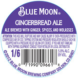 Blue Moon Gingerbread Ale Beer