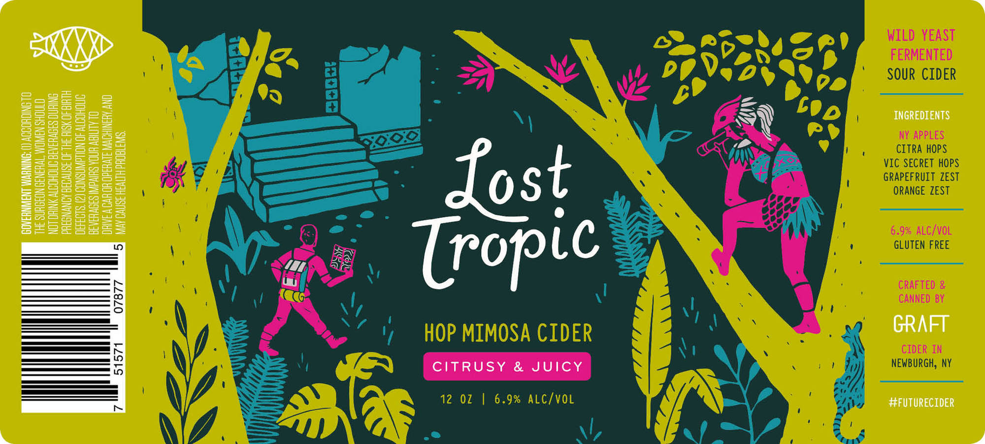 Graft Lost Tropic beer Label Full Size