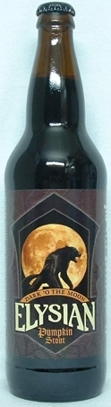Elysian Dark 'O the Moon Pumpkin Stout beer Label Full Size