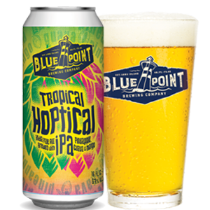 Blue Point Tropical Hoptical beer Label Full Size