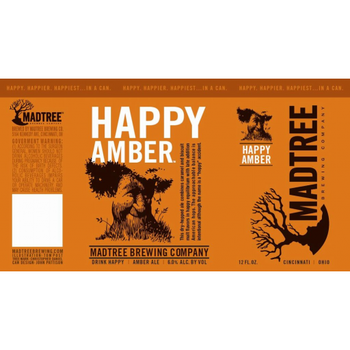 MadTree Happy Amber beer Label Full Size
