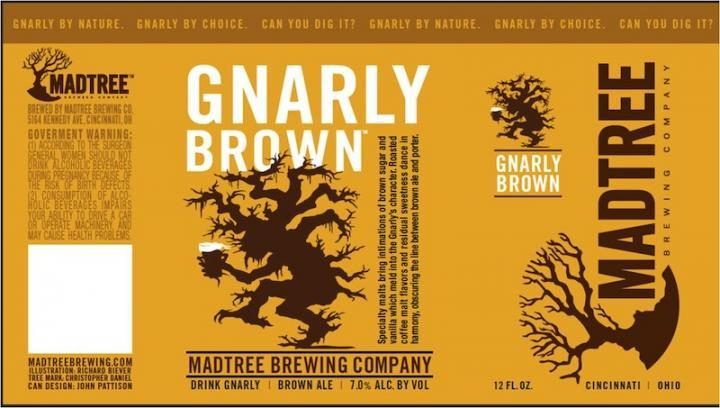 MadTree Gnarly beer Label Full Size
