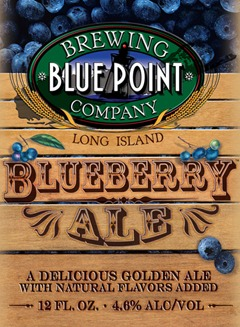 Blue Point Blueberry Ale beer Label Full Size