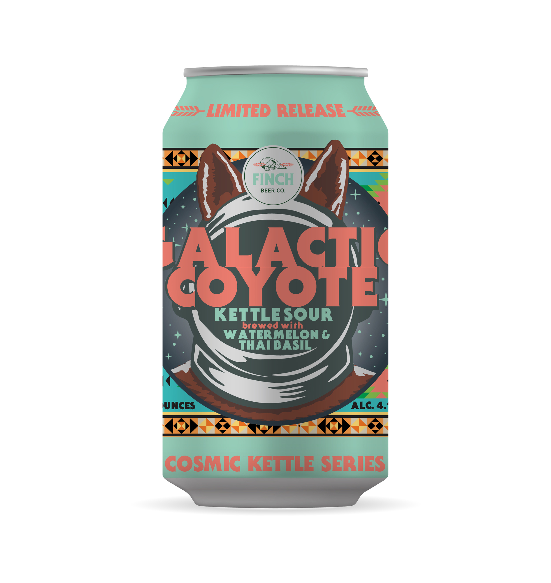 Finch Galactic Coyote beer Label Full Size