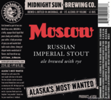 Midnight Sun Moscow Rye Russian Imperial Stout Beer