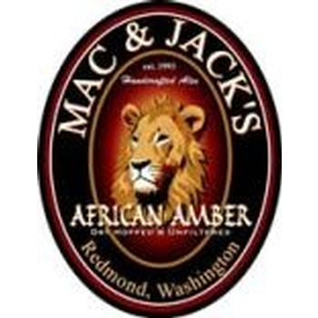 Mac and Jack's African Amber beer Label Full Size