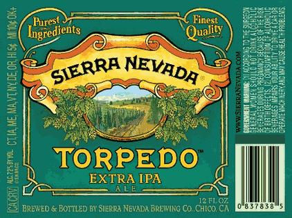 Sierra Nevada Torpedo beer Label Full Size