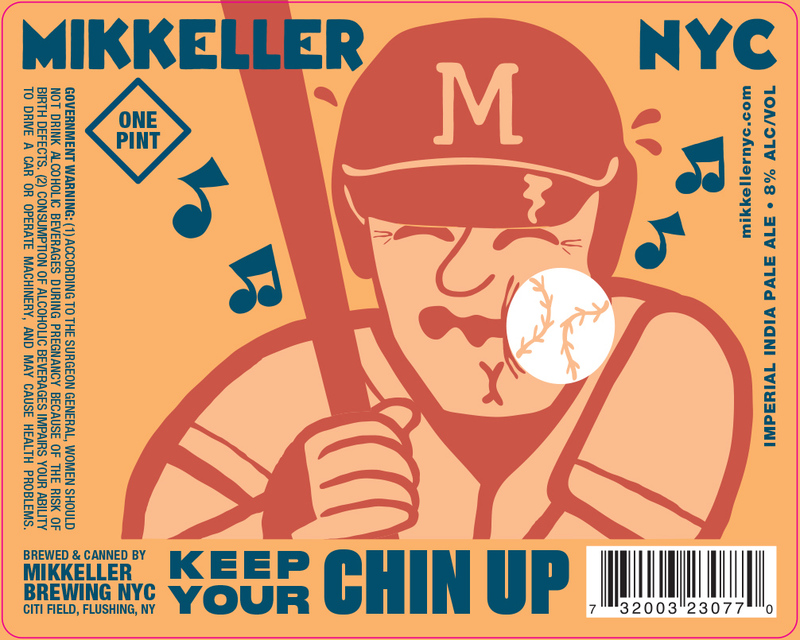 Mikkeller NYC Keep Your Chin Up beer Label Full Size