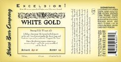 Ithaca Excelsior! White Gold Wheat Ale beer Label Full Size
