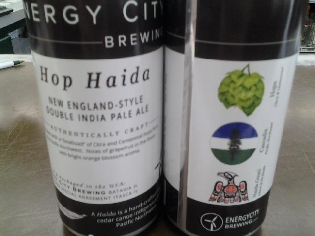 Energy City Hop Haida Double NEIPA beer Label Full Size