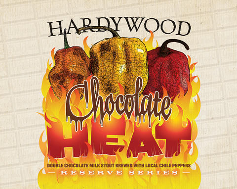 Hardywood Chocolate Heat beer Label Full Size