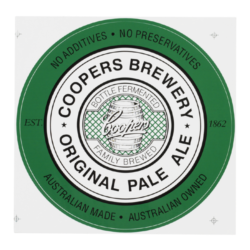 Cooper's Pale Ale beer Label Full Size