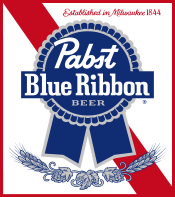 Pabst Blue Ribbon (PBR) beer Label Full Size