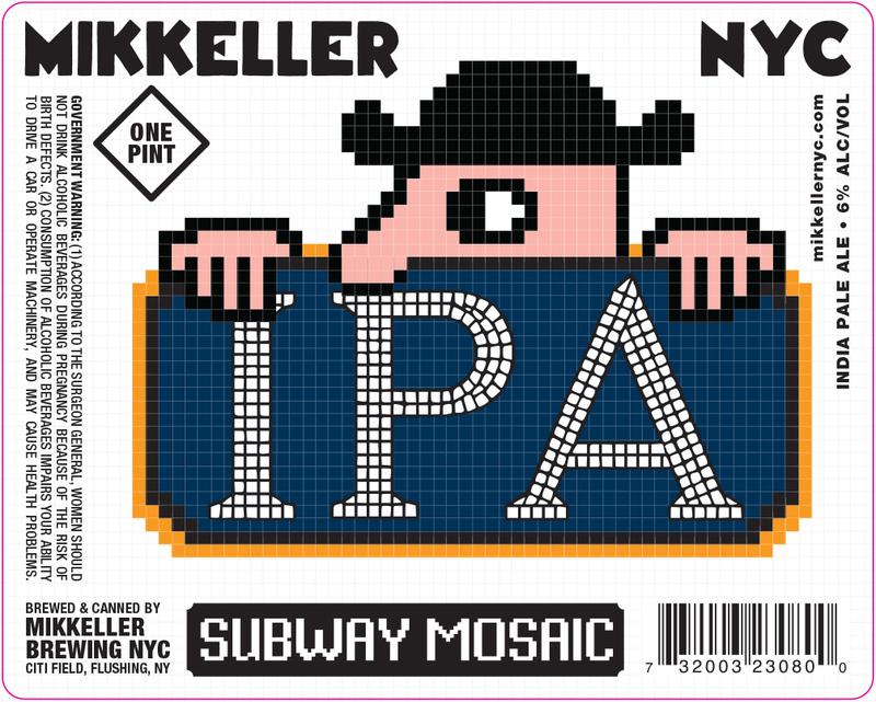 Mikkeller NYC Subway Mosaic IPA beer Label Full Size