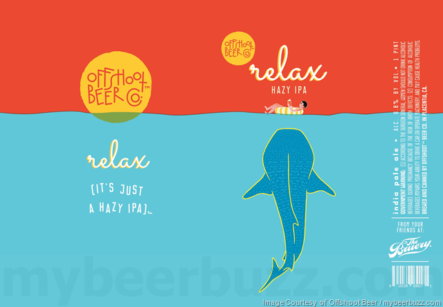 Offshoot/Bruery Terreux Relax (It's Just A Hazy IPA) beer Label Full Size