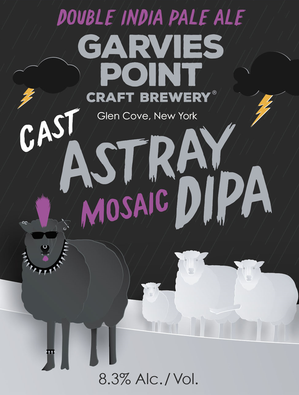 Garvies Point Cast Astray Mosaic beer Label Full Size