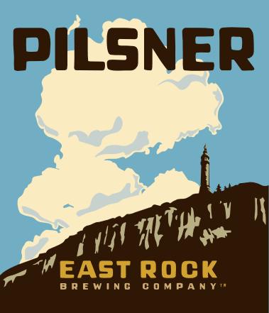 East Rock Pilsner beer Label Full Size