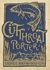 Odell Cutthroat Porter Nitro beer Label Full Size