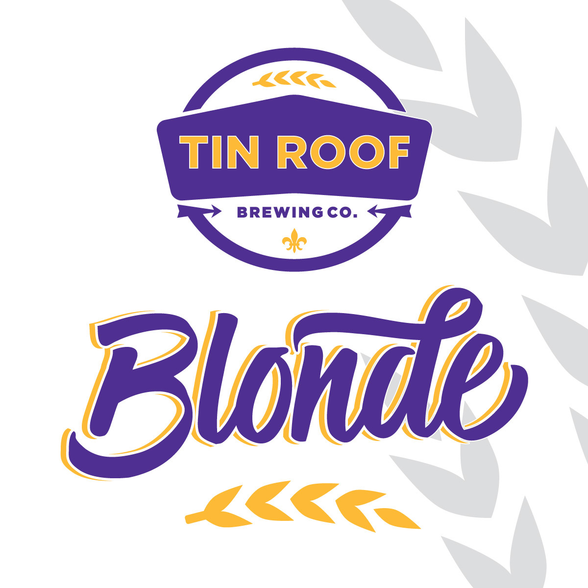 Tin Roof Blonde Ale beer Label Full Size